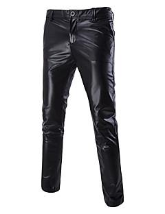billige Herrebukser og -shorts-Herre overdrevet / Punk & Gotisk Tynn Chinos Bukser Ensfarget