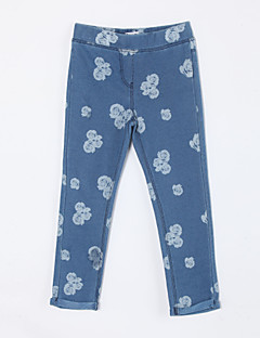 Girl's Casual/Daily Print PantsCotton Fall Blue