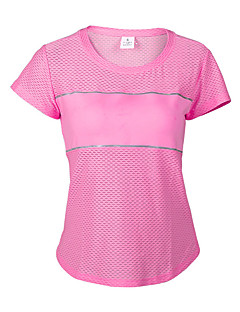 Mulheres Camiseta de Trilha Vestível Respirável Antibacteriano Tecido Ultra Leve Redutor de Suor Confortável Sem Eletricidade Estática