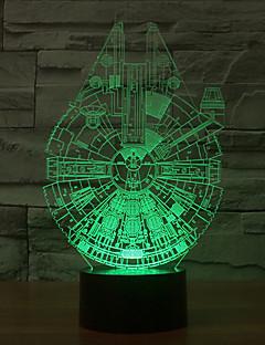 tanie Światła prezentów-tysiąclecia falcon 3d led night light 7 kolorów dekoracji atmosfera lampa nowość oświetlenie światło