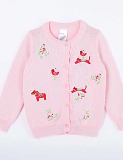 女の子の カジュアル/普段着 プリント コットン,セーター&カーデガン 秋 ピンク