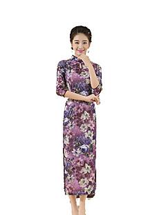 baratos Costumes étnicas e Cultural-Tradicional Mulheres Saia Vestido de lápis Vestido de uma linha Cosplay Comprimento Longo Trajes da Noite das Bruxas