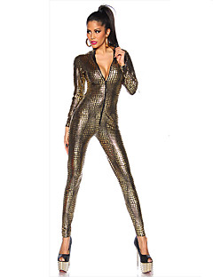 billige Sexy Uniformer-Cosplay Cosplay Kostumer Party-kostyme Dame Halloween Oktoberfest Festival / høytid Halloween-kostymer Lapper