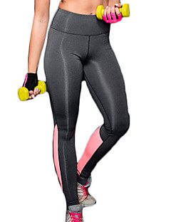 billiga Träning-, jogging- och yogakläder-Dam Yoga byxor - Blå, Rosa sporter Sexig, Mode Elastan Hög midja Cykling Tights Pilates, Motion & Fitness, Löpning Sportkläder Snabb