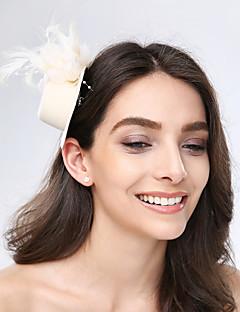 お買い得  フラワーガール-チュールの羽の生地の魅力的なヘッドピースクラシックな女性のスタイル