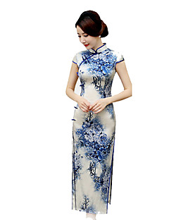 tanie Etniczne & Cultural Kostiumy-Tradycyjne Damskie Spódnice Sukienka typu A-Line Sukienka ołówkowa Cosplay Krótki rękaw Długi Długość