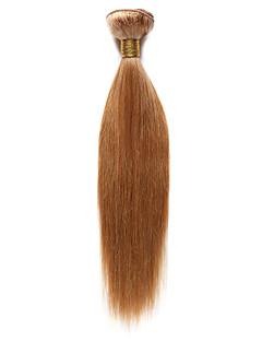 Menneskehår Indisk hår Menneskehår, Bølget Yaki Hår Ekstensions 1 Stykke Rødblondt