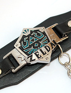 billige Anime cosplay-Smykker Inspirert av The Legend of Zelda Cosplay Anime Cosplay-tilbehør Armbånd PU Leather Legering Herre Dame