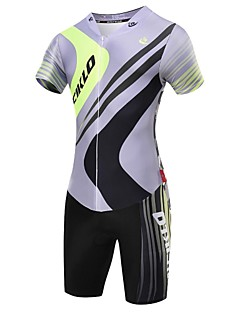 Malciklo Cycling Jersey with Shorts Men's Short Sleeves Bike Triathlon/Tri Suit Compression Clothing Clothing Suits Quick Dry Front