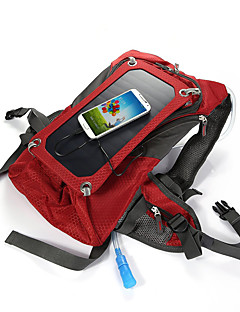 cheap Backpacks & Bags-Solar Outdoor Riding Package Rucksack Hydration Pack & Water Bladder 42L Outdoor Red Canvas Solar Panel Iphone 7