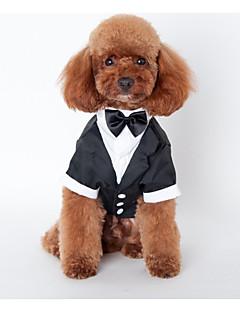 billiga Hundkläder-Hund Outfits Hundkläder Brittisk Svart Cotton Kostym För husdjur Herr Bröllop