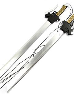 billige Anime Cosplay Tilbehør-Våpen / Sverd Inspirert av Attack on Titan Mikasa Ackermann Anime Cosplay-tilbehør Sverd / Våpen Tre Dame Halloween-kostymer
