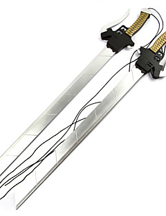 Arma Espada Inspirado por Attack on Titan Mikasa Ackermann Anime Acessórios para Cosplay Espada Arma Madeira Feminino