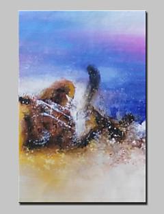 baratos Paisagens Abstratas-Pintados à mão Abstracto / Paisagens Abstratas Pinturas a óleo,Modern 1 Painel Tela Hang-painted pintura a óleo For Decoração para casa
