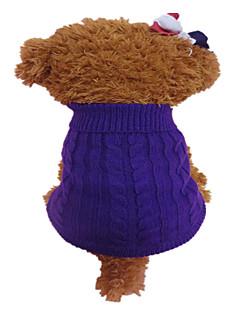 abordables -Chien Pull Vêtements pour Chien Hiver Fleur Mode Orange Violet