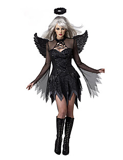 Angel / Devil Cosplay Costumes Party Costume Female Halloween Festival / Holiday Halloween Costumes Black Patchwork