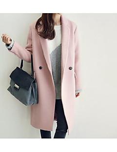 お買い得  レディースコート&トレンチコート-女性用 クラシック・タイムレス 純色 フォーマル