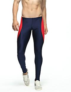 Herre Tights til jogging Treningstights Pustende Shorts Bunner til Løper Trening & Fitness Bomull Tett Mørkeblå Grønn M L XL