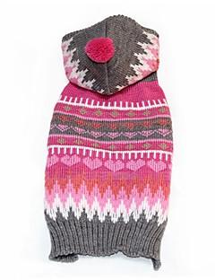 ネコ 犬 コート セーター 犬用ウェア パーティー コスプレ カジュアル/普段着 保温 結婚式 クリスマス 新年 縞柄 ローズ