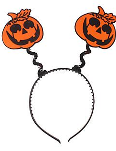 billige Halloweenkostymer-Gresskar Halloween Utstyr Oransje Lilla Gul Rød Grønn polyester Cosplay-tilbehør Halloween Karneval Nytt År Barnas Dag