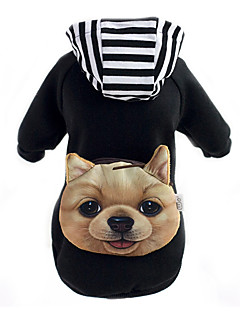 cheap Dog Clothes-Dog Hoodie Backpack Dog Clothes Cute Animal Black Red Costume For Pets