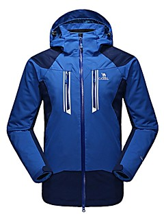 Men's 3-in-1 Jackets Waterproof Thermal / Warm Windproof Fleece Lining Moisture Permeability Anti-Insect Wearable Breathable Detachable
