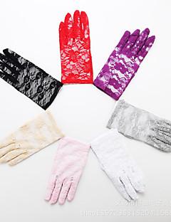 billiga Dansaccessoarer-Danshandske Prestanda Spets Spets Handskar