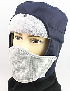 billige Trendy hatter-Unisex Fritid Skilue,Alle årstider Ensfarget Polyester Hvit Svart Navyblå Rød