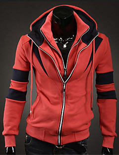 baratos Abrigos e Moletons Masculinos-Homens Moda de Rua Manga Longa Jacket Hoodie Listrado / Estampa Colorida Colarinho Chinês