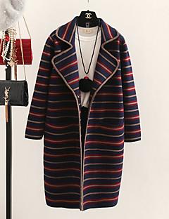 baratos Suéteres de Mulher-Mulheres Festa Para Noite Sofisticado Moda de Rua Manga Longa Algodão Longo Carregam Estampado Algodão