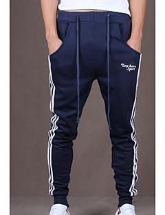billige Herrebukser og -shorts-Herre Tynn Tynn Joggebukser Bukser Stripet