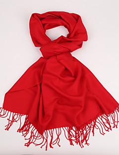 tanie Modne szale i chusty-Dla obu płci Podstawowy Prostokątne - Jedwab Kaszmir, Jendolity kolor