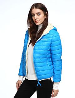 Damen Gefüttert Mantel Einfach Ausgehen / Lässig/Alltäglich Solide-Polyester Polypropylen Langarm Blau / Rosa / Weiß