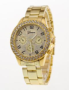 Heren Modieus horloge Polshorloge Gesimuleerd Diamant Horloge Kwarts / Roestvrij staal Band Vrijetijdsschoenen Zilver Goud Goud Rose