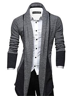 tanie Męskie swetry i swetry rozpinane-Męskie Długie Sweter rozpinany Prążki Długi rękaw