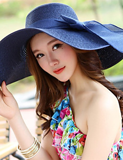 cheap Accessories' New Ins-Women's Vintage Outdoor Straw Hat - Solid Colored