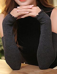 Dame Fritid Operalengde Halv Finger,Høst Vinter Solid Polyester