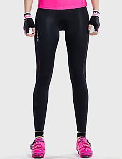 SANTIC サイクリングタイツ 女性用 バイク サイクリングタイツ パンツ パッド入りショーツ ボトムズ 高通気性 快適 3Dパッド エラステイン ナイロン クラシック ゼブラプリント ビーチ サイクリング/バイク 春 夏 ブラック