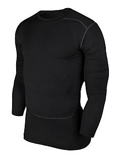 billiga Träning-, jogging- och yogakläder-Herr Kompressionskjorta - Svart sporter Mode Kompressionskläder Yoga, Pilates, Motion & Fitness Långärmad Sportkläder Andningsfunktion,