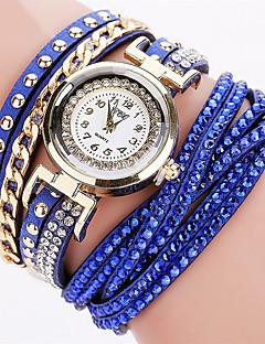 billige Armbåndsure-Dame Quartz Armbåndsur Sej PU Bånd Vedhæng / Glitrende / Vintage / Slik / Afslappet / Bohemisk / Mode / Armring Sort / Hvid / Blåt / Sølv
