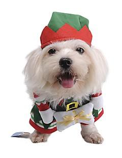 ネコ 犬 コスチューム 犬用ウェア キュート コスプレ クリスマス キャラクター グリーン