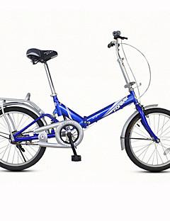 baratos Total Promoção Limpa Estoque-Bicicleta Dobrável Ciclismo 1 velocidade 20 polegadas Freio em V Comum Dobrável Comum Aço