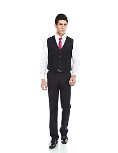 cheap Vests & Pants-Patterns Wool & Polyester Blend Slim Fit Suit Vest with Pocket by WETSONJPOILO