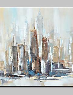 baratos Paisagens Abstratas-Pintura a Óleo Pintados à mão - Abstrato / Paisagens Abstratas Modern Incluir moldura interna