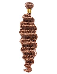 Păr Natural Păr Indian Precolored Țesăturile de par Ondulat Tare Extensii de par 1 Bucată Auburn medie