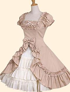 billiga Lolitamode-Prinsessa Söt Lolita Dam Kjolar Cosplay Grön / Rosa Balklänning Kort ärm Kortärmad Medium längd Plusstorlekar Anpassad Kostymer