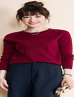billige Pigesweaters og hættetrøjer-Dame Langærmet Pullover - Ensfarvet