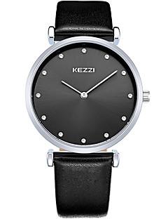 KEZZI カップル用 ファッションウォッチ リストウォッチ クォーツ / レザー バンド カジュアル クール ブラック 白 ブラウン