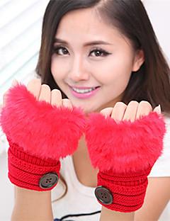 kvinners enkel uklar strikkevarer leddet lengde halv finger søt / fest / enkle vinterhansker