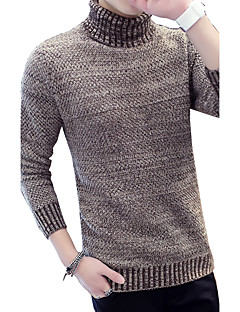 tanie Męskie swetry i swetry rozpinane-Męskie Rozmiar plus Praca Golf Pulower Jendolity kolor